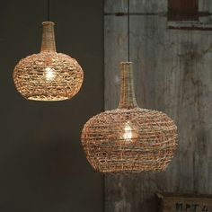 Conical Rattan Lampshade