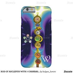 ROD OF ASCLEPIUS WITH 7 CHAKRAS ,SPIRITUAL ENERGY BARELY THERE iPhone 6 CASE