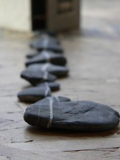 Love this…meditative), environmental art Soul Stone, Stone Art, Wishing Stones, Rock And Pebbles, Love Rocks, Sticks And Stones, Thing 1, Environmental Art, Little Books
