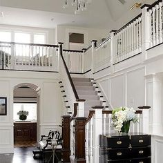 Two Story Foyer, Contemporary, entrance/foyer, An Organized Nest
