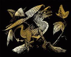 Baby Dragon Art Engraving (Set of 2)