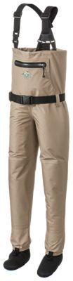 White River Fly Shop Classic Chest-High Stocking-Foot Breathable Waders for Kids - XL