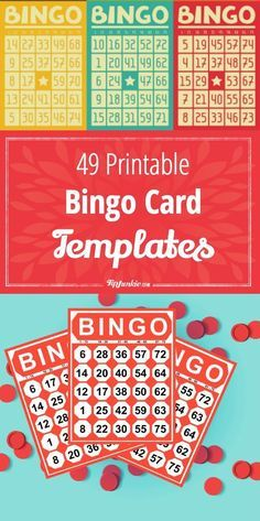 How to make bingo card with these free printable bingo cards and templates. You can use these bingo cards for baby and bridal shower games… Bingo Card Template, Free Printable Bingo Cards, Card Templates Printable, Free Printables, Printable Party, Birthday Games For Adults, Birthday Party Games, Birthday Wishes, Birthday Ideas