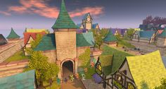 Fantasy Faire 2016 Sim - Bright Haven Woodland, Sims, Fairy Tales, Bright, Fantasy, Mansions, House Styles, Painting, Art