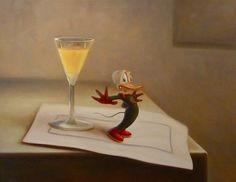 "Kaj Stenvall: ""Here we are guarding"", 2008 (oil on canvas, Finsk-Norsk Kulturinstitutt, Oslo, Norway. Hurricane Glass, Illustrators, Oil On Canvas, Holiday Decor, Gallery, Ducks, Finland, Kai, Postcards"