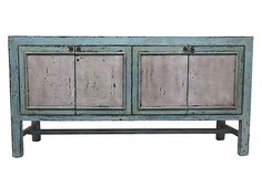 I can really see this in my newly renovated living room. Grace 4-Door Tall Sideboard, Blue on OneKingsLane.com