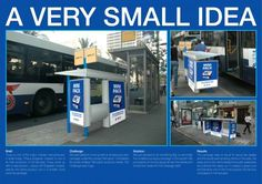 A mini bus shelter created next to the real one to advertise mini Tnuva Cheese.  #outdoorads #advertising #ads #losangeles #largeformatprinting #marketing #business