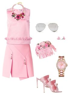 Pink by omolina on Polyvore featuring polyvore, MSGM, Versus, FAUSTO PUGLISI, Coach, Juicy Couture, Sunny Rebel, fashion, style and clothing