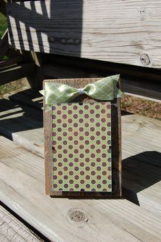 Barnwood Photo Frame with Quartfoil Bow by SweetSophieMaes on Etsy, $15.00