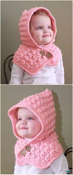 Crochet Textured Toddler Hood Free Pattern - Sudadera con capucha de ganchillo Patrones sin bufanda