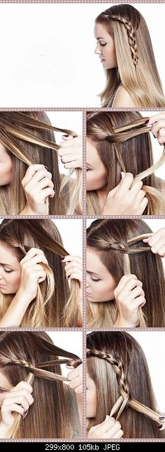 next time i feel like doing my hair, i'm trying this! <3