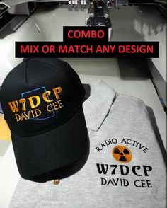 2bc897e8e18ad HAM RADIO Shirt   Hat Combo C12 - Mix or Match - Classy Custom EMBROIDERED  in CrushProof Box with any design plus Callsign - Hat - Polo