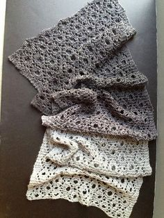 Silver Symphony Scarf | AllFreeKnitting.com  I can't wait to get started on this for a Christmas gift!