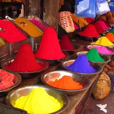 Paint Pots at Devaraja Market, Mysore, #India #travel #afar