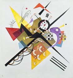 Wassily Wassilyevich Kandinsky was an influential Russian painter and art theorist. He is credited with painting the first purely abstract works. Born in Moscow, Kandinsky spent his childhood in Odessa. Kandinsky Art, Wassily Kandinsky Paintings, Abstract Expressionism, Abstract Art, Abstract Painters, Oil Painting Reproductions, Modern Artists, Art Graphique, Henri Matisse