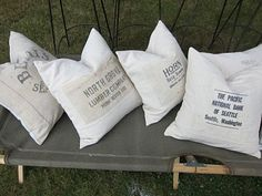Money bag pillows! Cool!