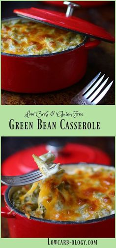 Decadent & creamy, this low carb green bean casserole is a scrumptious side dish. From http://Lowcarb-ology.com