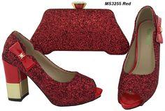 High heels rhinestone flat shoes and matching clutch bag fashion wholesale italian shoe Shoes And Bag To Match