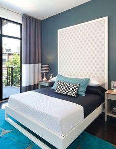 An easy DIY headboard idea to create drama in your bedroom