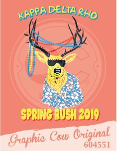 Graphic Cow, Kappa Delta, Fraternity, Greek, Graphics, Spring, Poster, Graphic Design, Printmaking