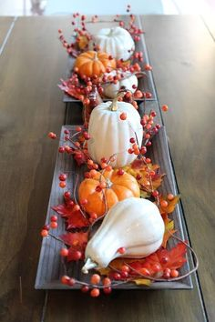 DIY Faux ceramic pumpkins