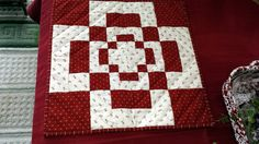 QUILTED MINI table top or wall hanging by AuntiJoJos on Etsy