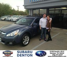 #HappyAnniversary to Robert Middaugh on your 2013 #Subaru #Outback from Everyone at Huffines Subaru Denton!
