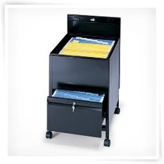 Locking Mobile Tub Filing Cabinet With Drawer Legal Size