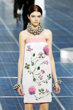 #Trend: #Floral, #Chanel.    View the full Spring Fashion 2013 Guide here: http://www.fashionmagazine.com/blogs/spring-fashion-2013/