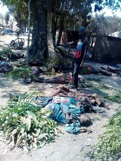 Ezekiel has shared photos of people killed in Dong village,Adamawa state after Fulani herdsmen attacked the village.He wrote… 'Live from Dong village i and District Head of Dong. Some of the corpses of our people'. READ NOW See How Soldiers Protected Muslims During Their Eid-Al-Fitr Prayers (Photos)See Photos Below.. Click To Comment READ NOW!Breaking News: …