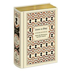 Write your own daily Jane Austen one-liners, chronicling five years of your life in this Jane-a-Day 5 Year Journal. Each page has an amusing or thought-provoking quote from Jane herself, from her novels or correspondence.
