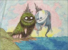 Ilustração por Tim Burton http://designartes.com.br/artes/tim-burton-e-seu-extenso-e-colorido-legado/