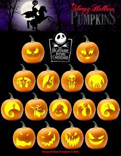 Printable PDF with Pumpkin Carving Patterns for Hocus Pocus. Includes 15 unique patterns and instructions. This is Halloween! Jack, Sally, Zero, Oogie Boogie and more. Patterns included for varying skill levels. Disney Pumpkin Carving Patterns, Disney Pumpkin Stencils, Printable Pumpkin Stencils, Halloween Pumpkin Carving Stencils, Amazing Pumpkin Carving, Pumpkin Carving Templates, Pumpkin Painting, Pumkin Carving Easy, Creative Pumpkin Carving Ideas