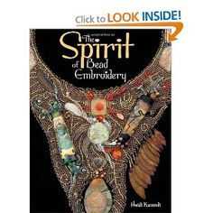 """The Spirit of Bead Embroidery.lilyjane says.""""Heidi is my bead mentor.she is a genius with design and color"""" Jewelry Tools, Jewelry Design, Fashion Design Books, Solid Gold Jewelry, Jewelry Making Tutorials, Gold Material, Beads And Wire, Bead Weaving, Beaded Embroidery"""