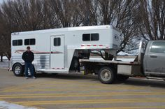 Pictured here is Daniel Harris picking up his wife's new trailer! Mr. Harris ordered Joans trailer from Matt at Tourbillon Trailer Sales. Thank you and congratulations! (401) 934-2221