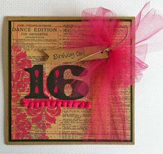 A sweet sixteen b-day card