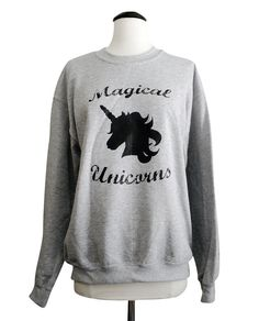 Unicorn Sweater  Magical Unicorns Crewneck.....i absolutely LOVE/live This omgosh!!!!!!!!!!!!!!!!!!!!!!!!!!!!!!!!!!!!!!!!!!!!!!