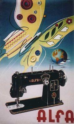 vintage Alfa sewing machine advertisement
