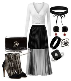 """""""7uh"""" by bama02614 on Polyvore featuring French Connection, Chanel, Boohoo, Les Néréides, West Coast Jewelry and Eva Fehren"""