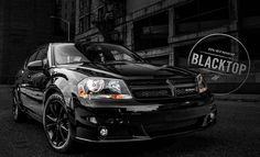 The 2014 Dodge Avenger Blacktop Package stealing the night. Custom look at a factory price. #blacktop #dodgeavenger