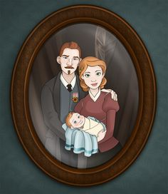 """""""Tintin and Family"""" - By ~chronicdoodler Wow I never really thought about what his parents would look like.."""