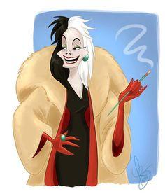 Colored version of my previous sketch. :)  Cruella Deville © Disney Instagram: @Naurcaladart #cruelladeville #disney #drawing #art