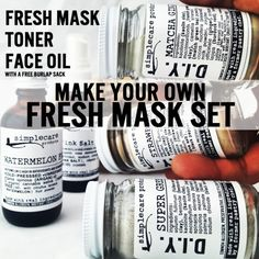 Buy Natural Skin Care and Other Products from Our Top Favorites Face Mask Set, Diy Face Mask, Healthy Hair Growth, Face Oil, Diy Mask, How To Get Rid, Natural Skin Care, Beauty, Products