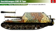 17cm Kanone 72 (Sf) Geschutzwagen Tiger