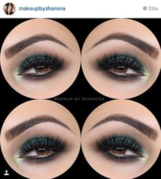 Sombra verde eacura com ponto deix verde mais claro.