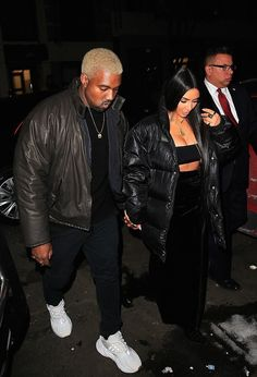 823022cb3 Kanye West Goes Out With Kim Kardashian On Valentine s Day the Night Before  His Yeezy Season 5 Show in Adidas Sneakers