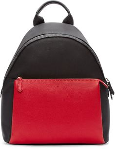 Fendi Black & Red Leather Backpack 2100 EUR, sold out.