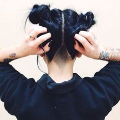 Awesome undercut blue hairstyle