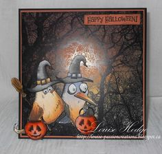 Good day Very proud and honored to have been invited to be Guest Dt for Crafting by Design Challenge The theme is Halloween I als. Halloween Paper Crafts, Halloween Cards, Happy Halloween, Halloween Greetings, Halloween Pictures, Crazy Bird, Crazy Cats, Crazy Animals, Big Bird