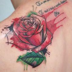 Adicionando a rosa em aquarela a frase que já estava tatuada (não fui eu quem tatuou a frase).  Querendo uma tattoo exclusiva? Aquarela, sketch, trash? Entre em contato, venha conhecer o estudio e agende seu horário.  #rootstattoo_oficial #watercolor #aquarela #watercolortattoo #sketch #sketchtattoo #rose #watercolorrose #tattoo #tatuagem #tattoobrasil #tattooartist #myart #mom #fullcolor #colortattoo #brunocavalcantips #rosa #rosetattoo
